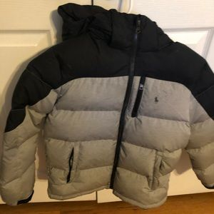 Ralph Lauren black boys winter jacket size M 8-10